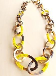J. Crew tortoise gold link necklace